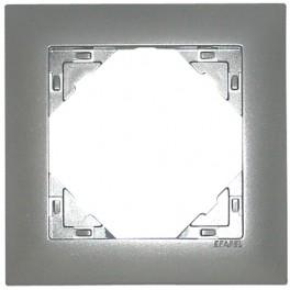 Ram alu silver 1 fack för olika uttag