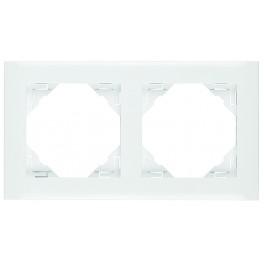 Ram vit 2 fack kombinations ram för olika uttag