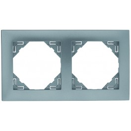 Ram alu silver 2 fack kombinations ram för olika uttag