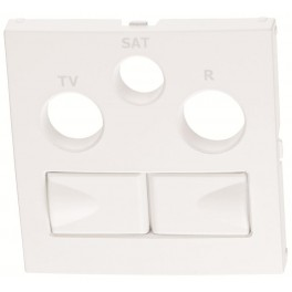 Centrumplatta vit för TV/Satellit/Radio uttag